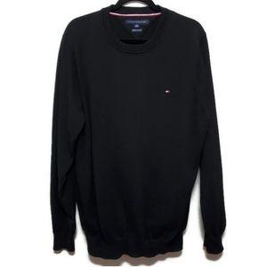 🍂 Tommy Hilfiger black sweater premium cotton men